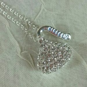 Sterling Silver Necklace Hershey Kiss CZ Pendant